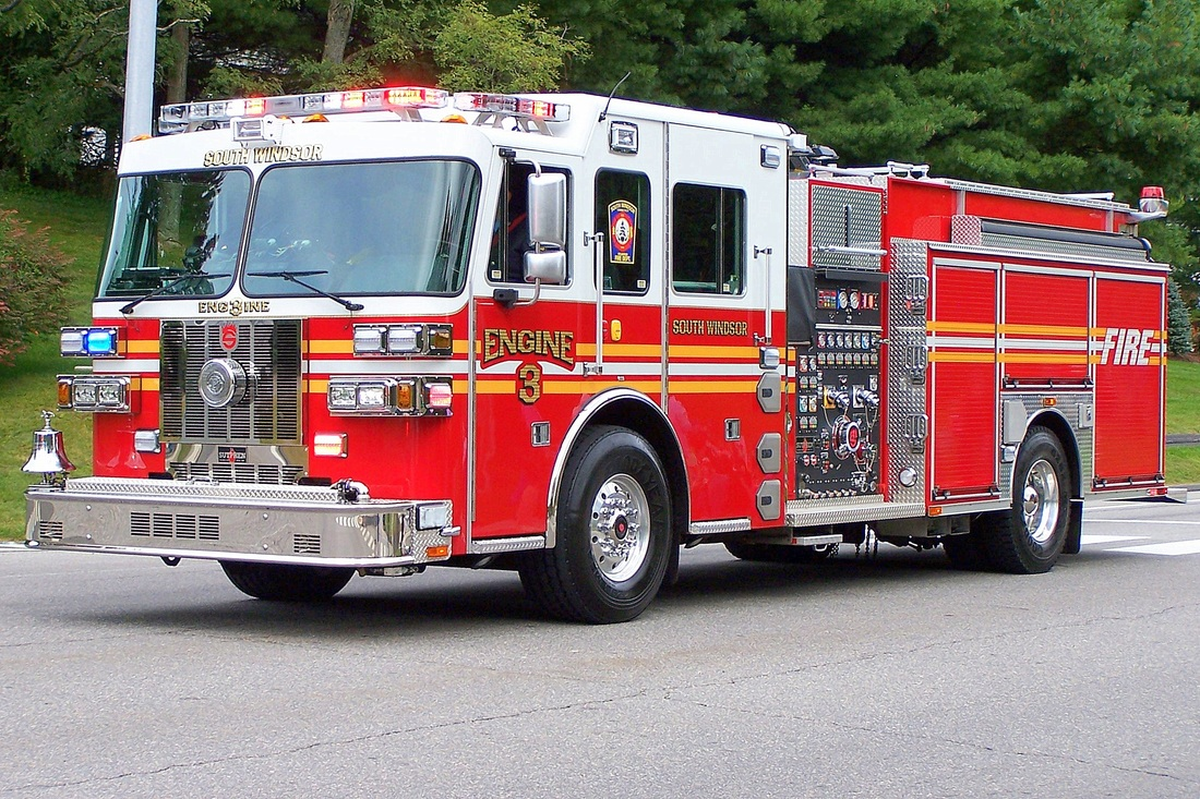 South Windsor's Engine 3, a 2011 Sutphen.