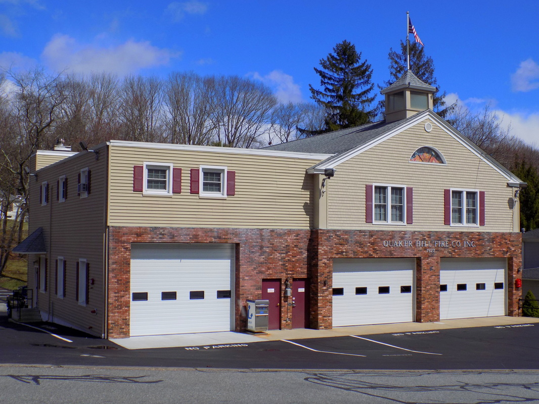 Quaker Hill's Fire Station, located at 17 Old Colchester Road, Waterford, CT.