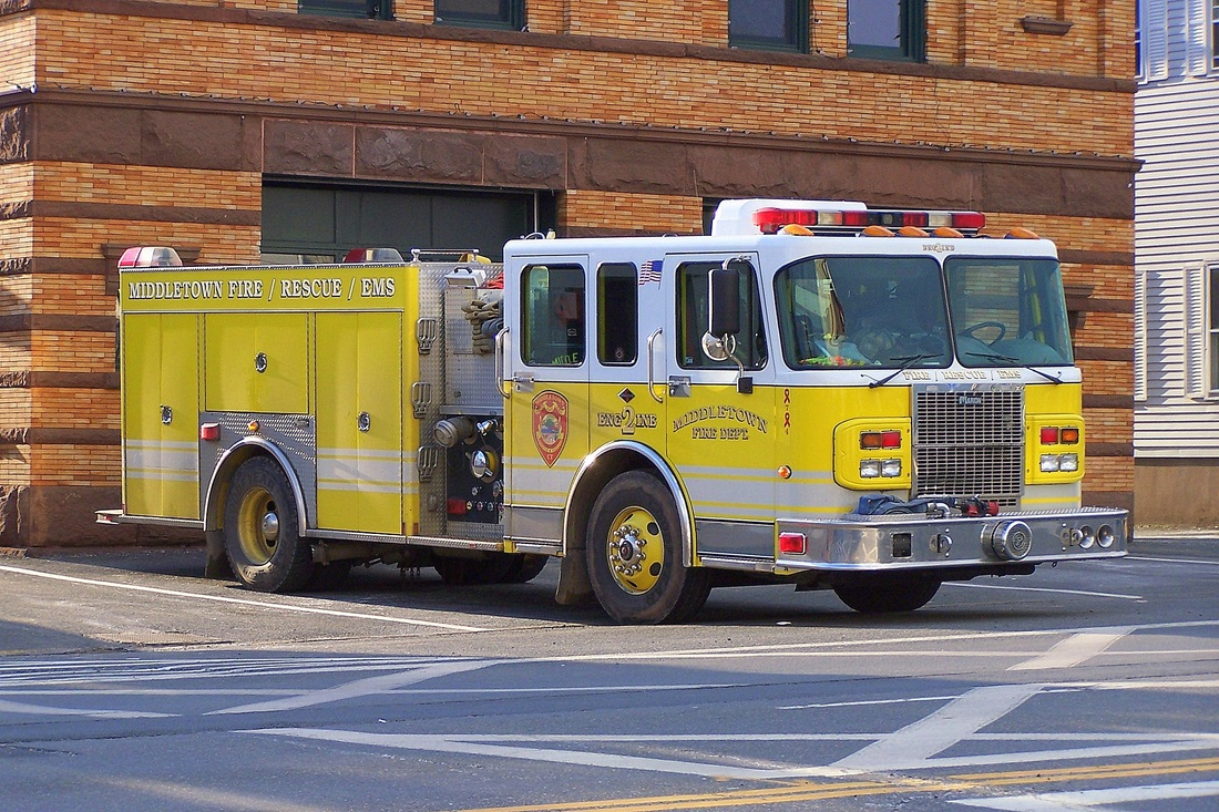 Middletown Engine 2, a 2003 Spartan Gladiator/Marion engine