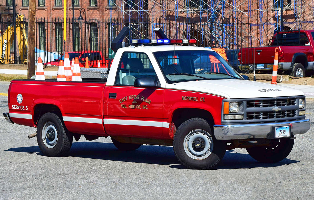 East Great Plain's Service 5, an unknown year Chevy pickup truck.