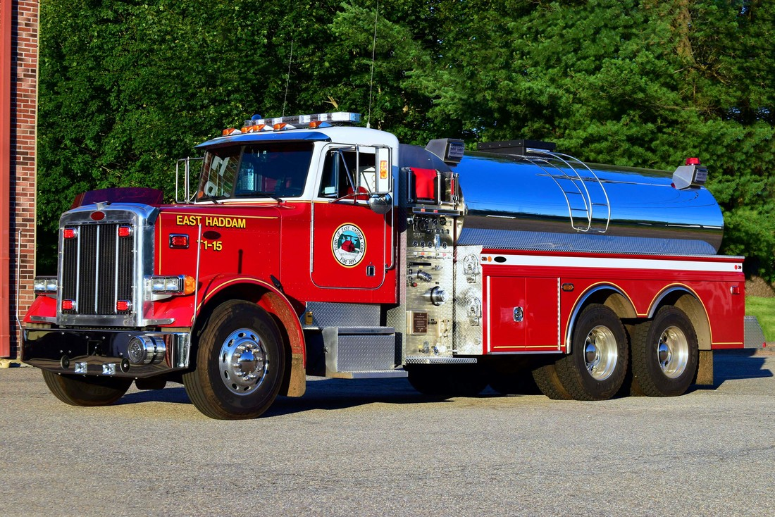 East Haddam's Tanker 1-15, a 1996 Peterbuilt/4-Guys (refurbished in 2016, formerly Tanker 3-15).