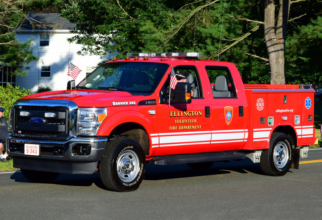 Ellington's Service 243, a 2016? Ford F-350 utility truck.