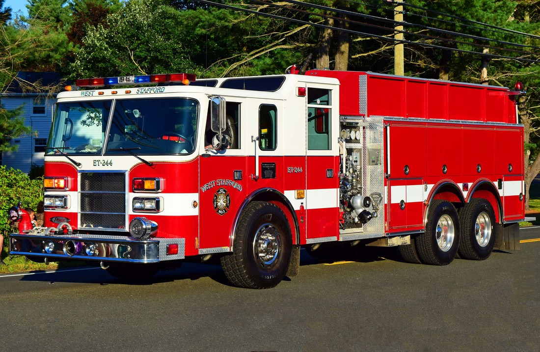 West Stafford's Engine Tanker 244, a 1999 Pierce Lance.